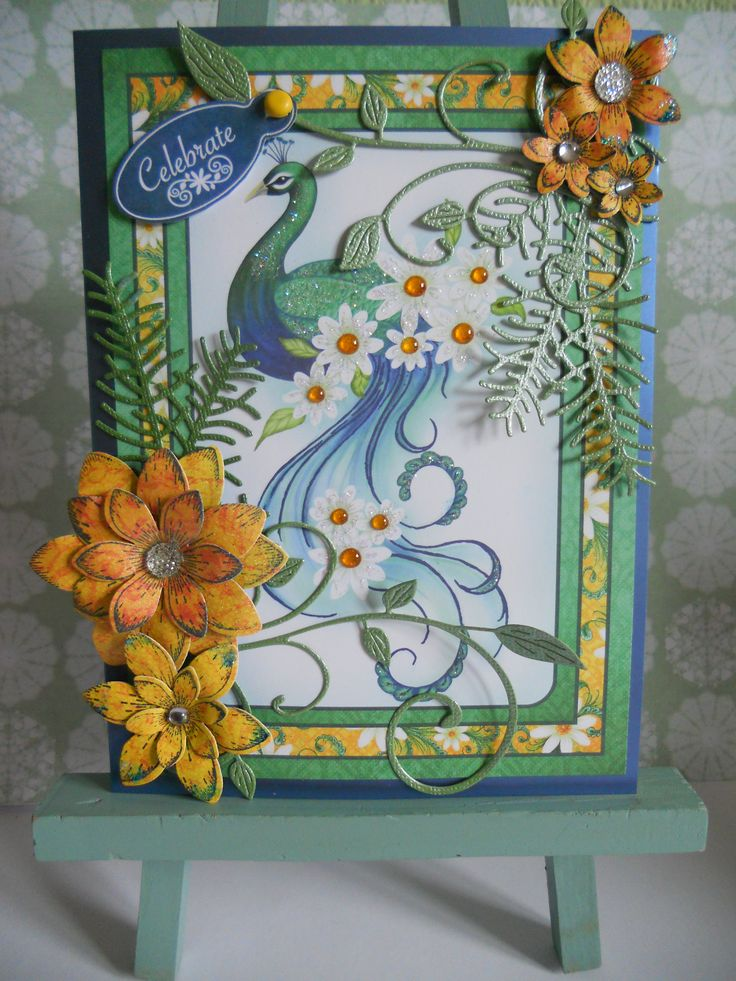 Heartfelt Creations sun kissed fleur and peacock paisley papers.