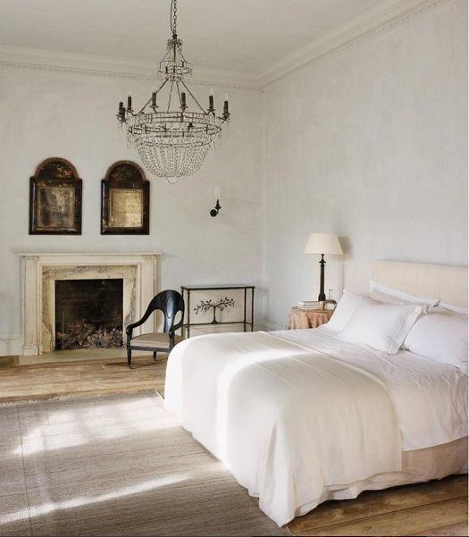 Fireplace Plaster Walls Linen On Bed Marvelous Space London Home Of Rose Uniacke And David Heyman