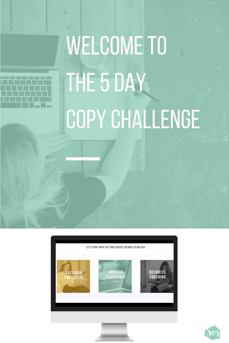 Marketing your business means creating content. Welcome to the Free 5 Day Copy Challenge Salon Owner Solutions