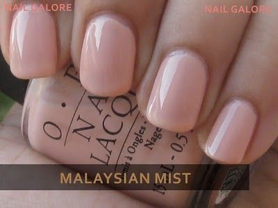 Perfect pinky nude nail polish- OPI Malaysian Mist. by lacy