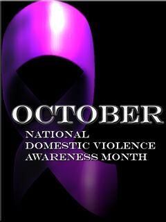 domestic violence ribbon | Black and Blue and PURPLE