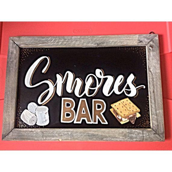 Smores Bar Sign by LeftyLadyChalkShop on Etsy | Weddings ...