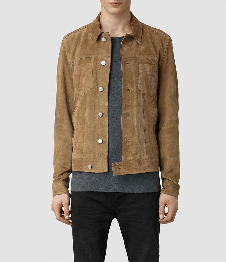 Men's Ocarno Suede Jacket (Granite) - | Fashion - Want ...