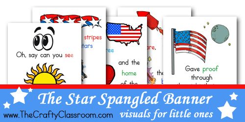 Free Star Spangled Banner Printables from The Crafty Classroom