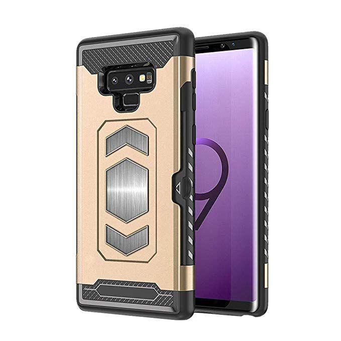 Certainpl Samsung Galaxy Note 9 Phone Case Luxury Hybrid Bumper Rugged Hard Cover Gold