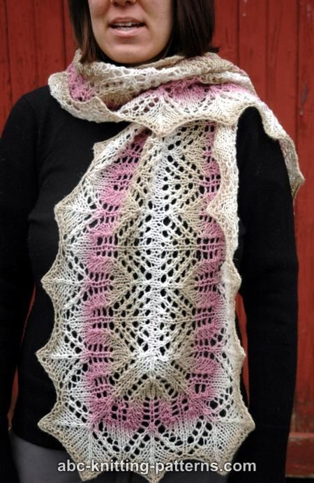 1000+ images about knitting - scarves on Pinterest Free ...