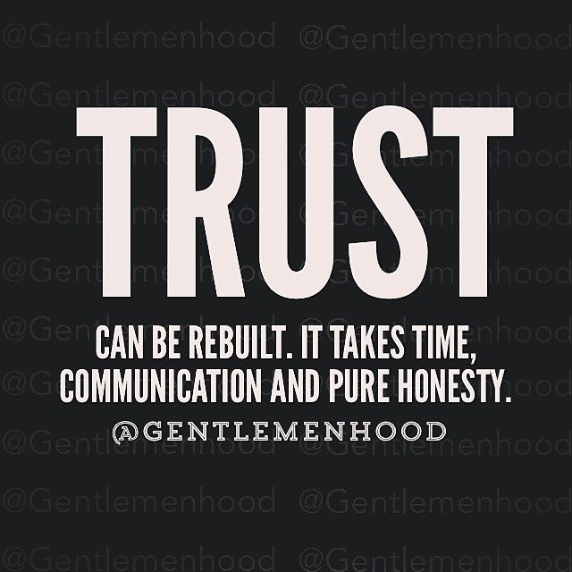 can trust be regained