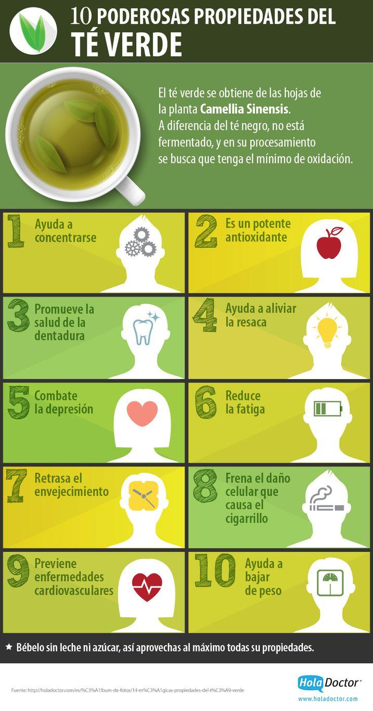 Consume más té verde y aprovecha sus propiedades medicinales.