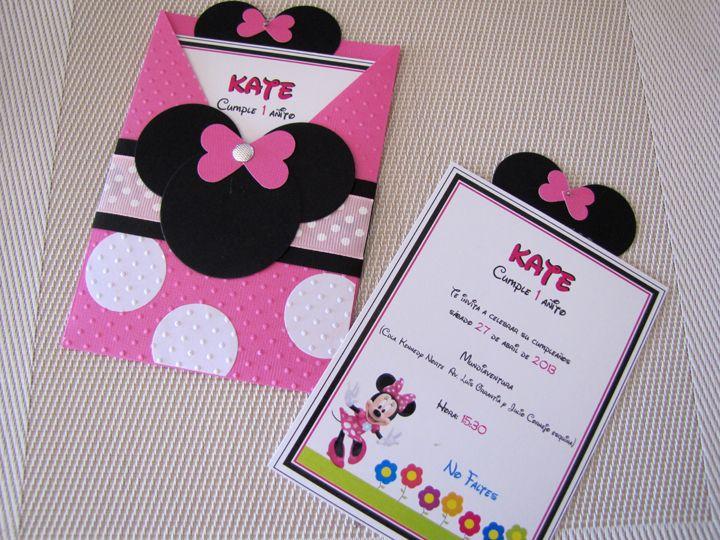 17 mejores ideas sobre Invitaciones Minnie en Pinterest ...