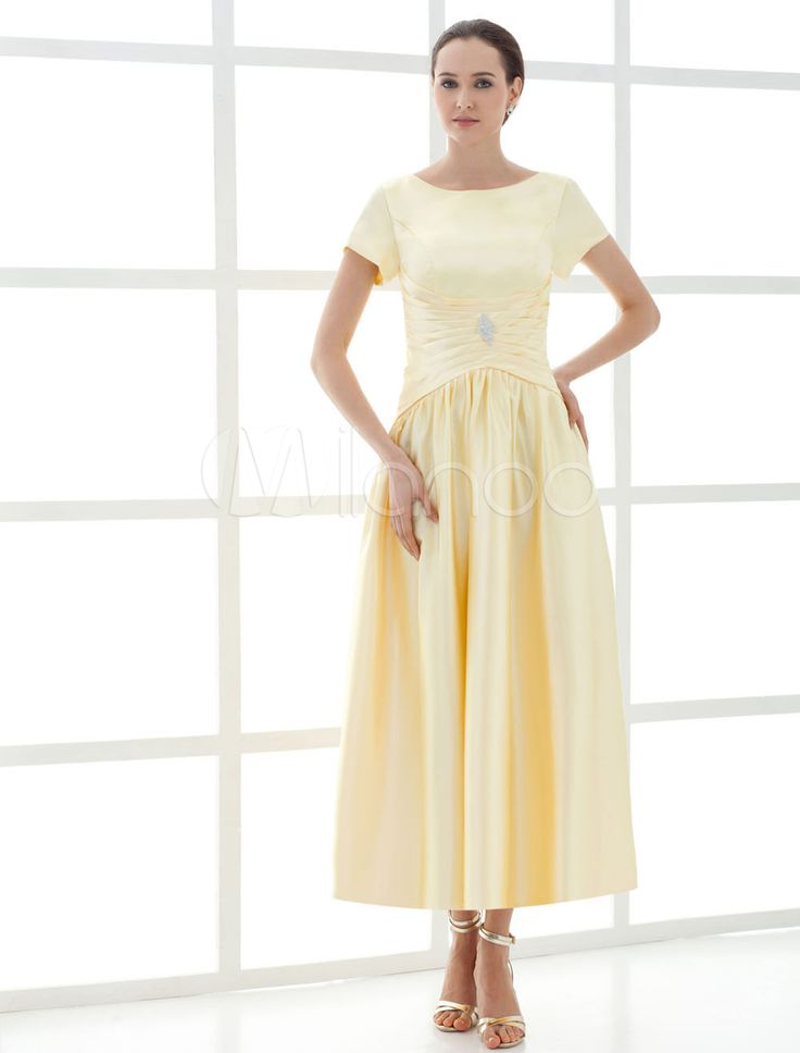 Daffodil A-line Ruched Chiffon  Fashion Mother of the Bride Dress