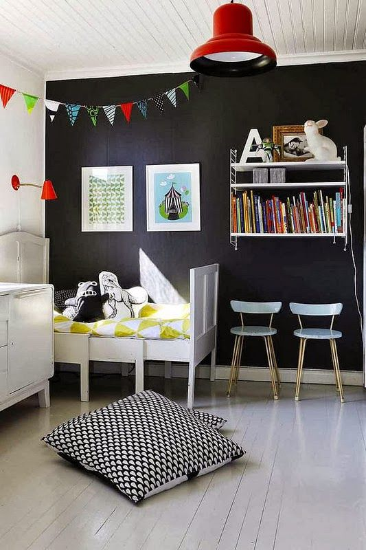 The boo and the boy eclectic kids 39 rooms little decor for Boys room accent wall