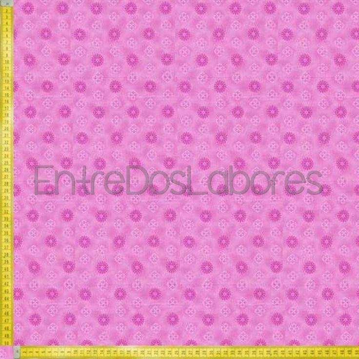 Tela de patchwork Fabry Quilt Mod. Budding beauties small medallion pink.