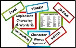 Character Adjectives Resource Pack