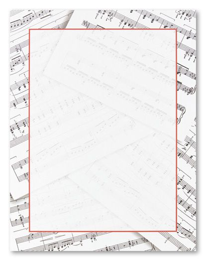 Sheet Music Stationery Letterhead