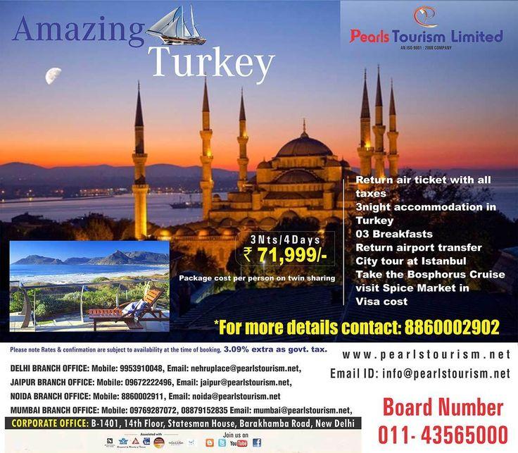 Amazing  Turkey @ 8860002902 | Pearls Tourism