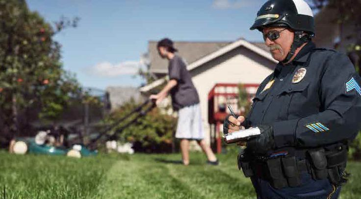 In the Land of the Free, it is now illegal to mow grass from extra money during the summer time, unless you pay the right state official for the privilege of working. These permit requirements are ultimately enforced through the power of police and fines.