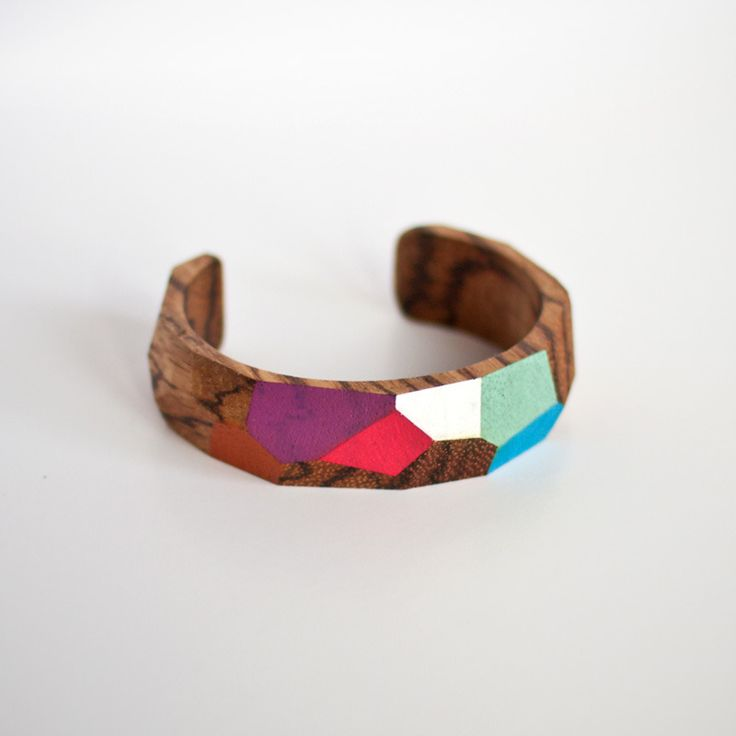 EVRT Studio - Beautiful! Lori Bracelet in FSC certified Zebra wood. Hand painted.