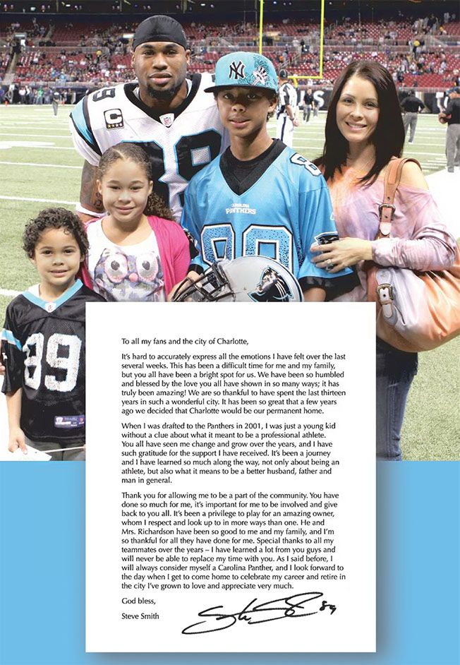 Former Panthers receiver Steve Smith takes out ad to thank fans | CharlotteObserver.com