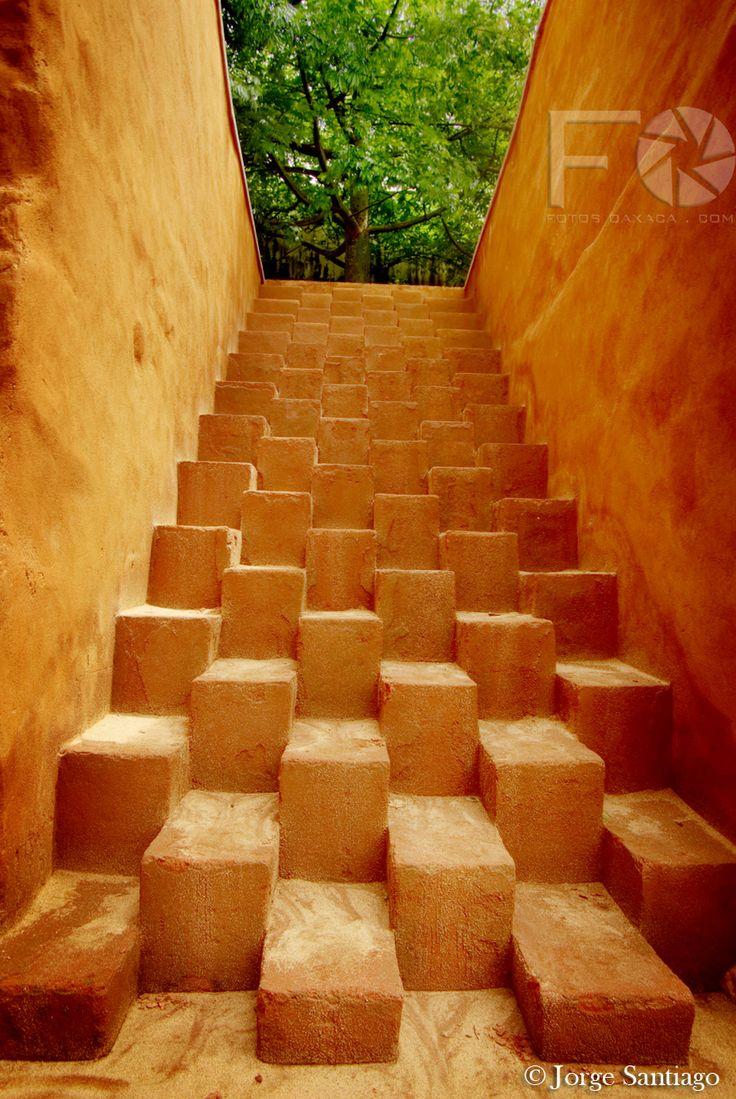 I stood and walked on these steps. San Agustin Etla, Oaxaca, Mexico. Centro de las artes de San Agustin Etla (CASA).