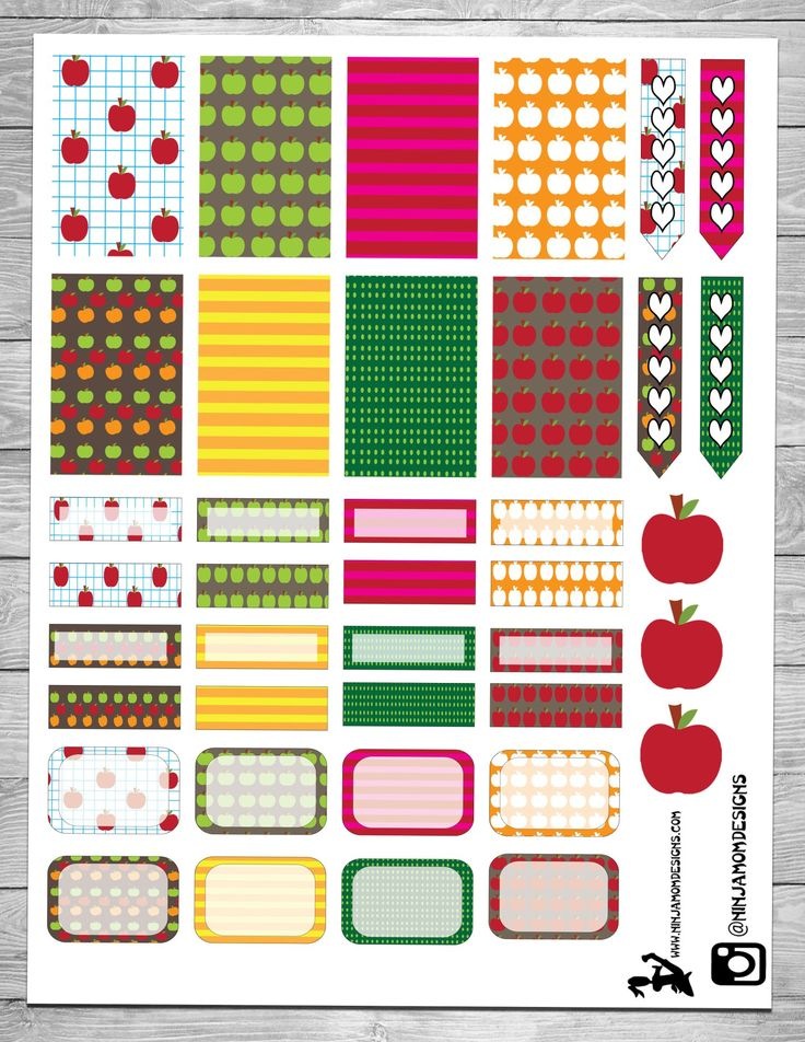 Free Apple Themed Planner Stickers                              …