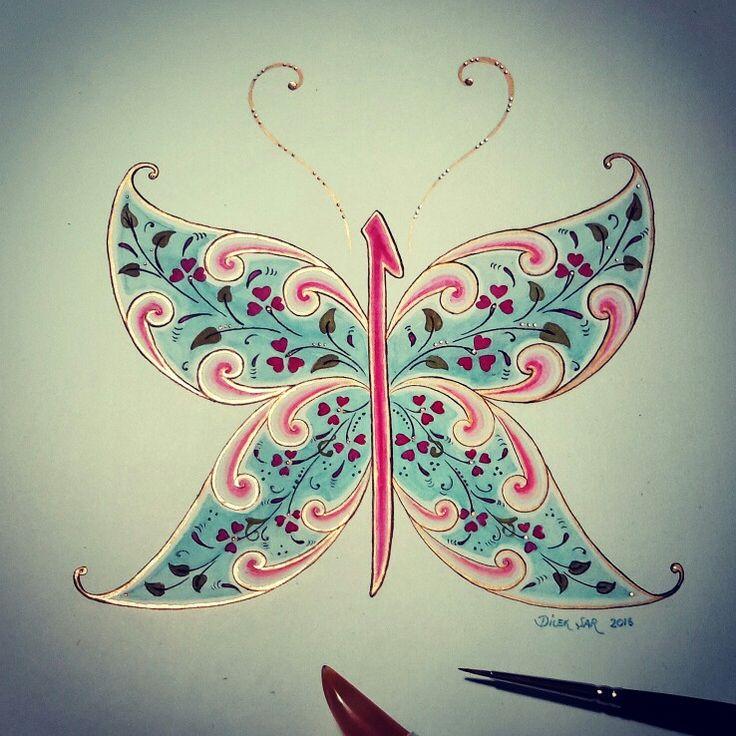 Elif kelebek - butterfly