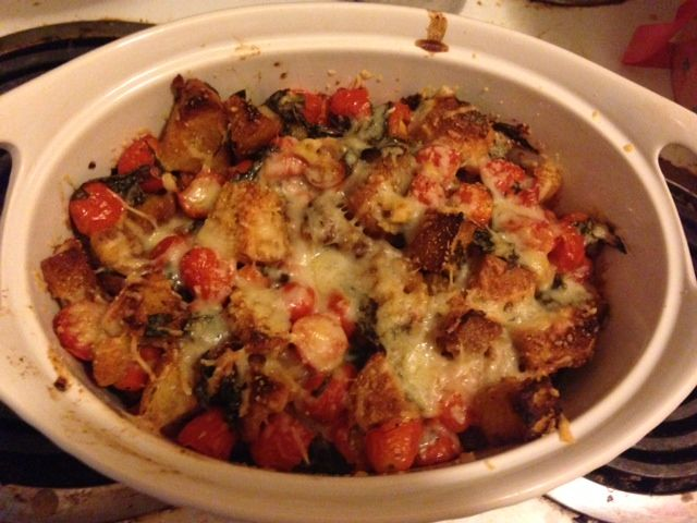 Basil Scalloped Tomatoes and Croutons: Another quick, simple summer ...