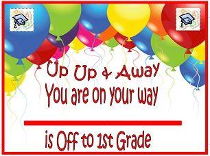 Printable kindergarten and preschool graduation certificates
