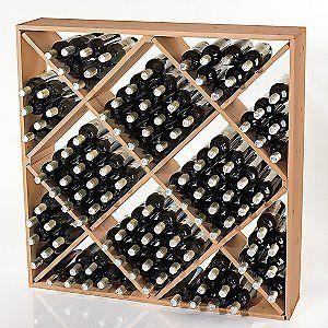 Jumbo Bottle Wine Rack  Natural