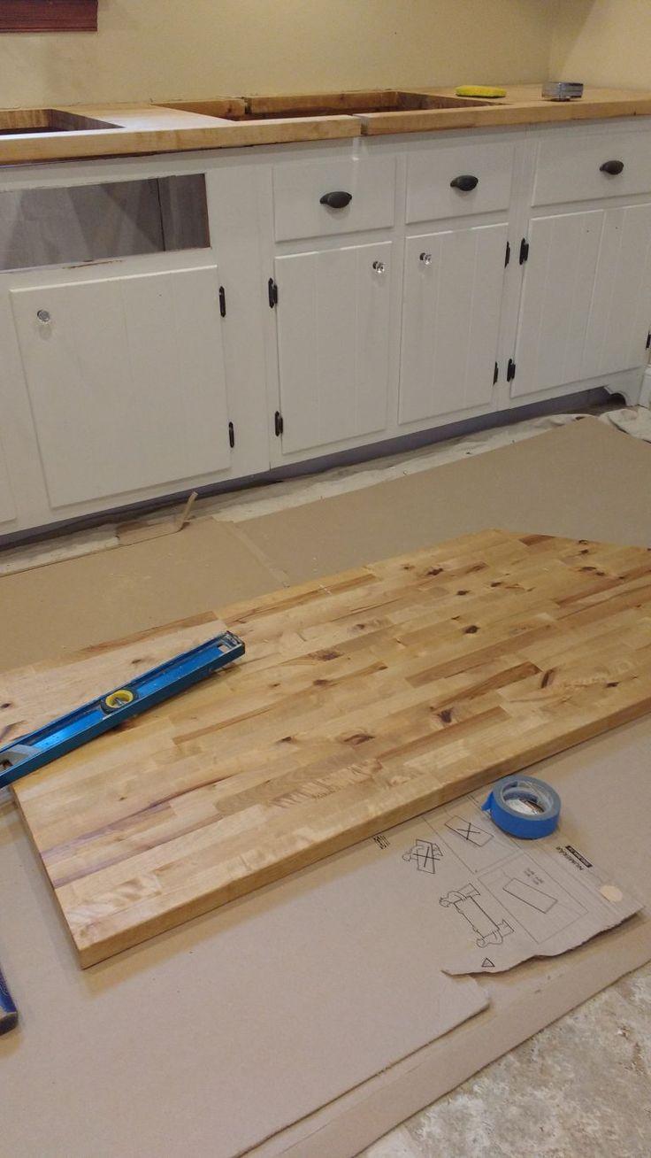 Sealing Butcher Block Countertops with Dark Tung Oil, A