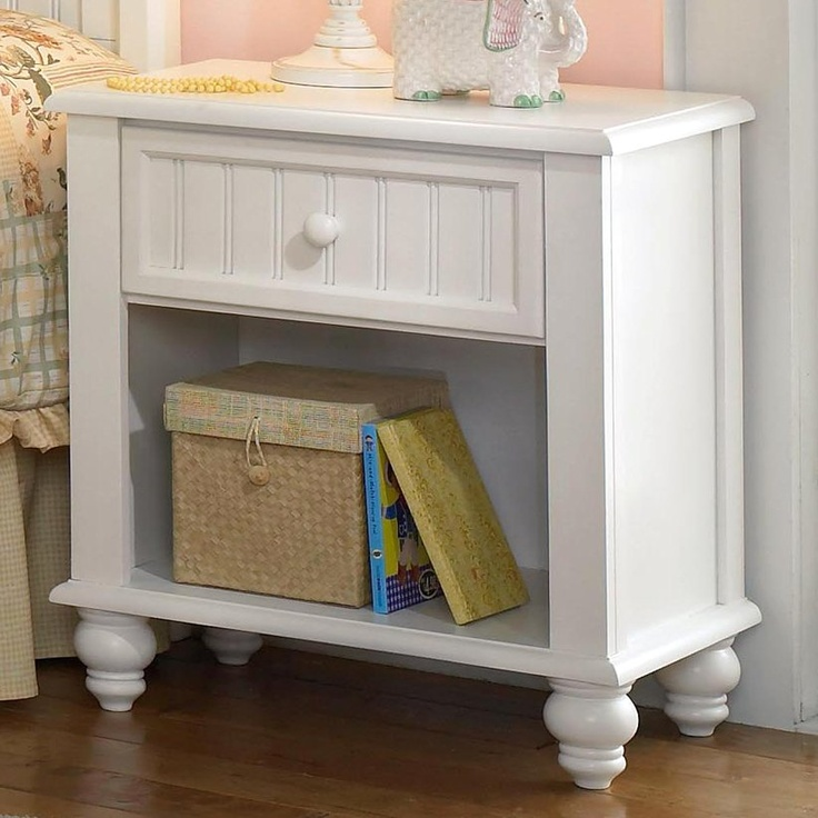 Bedroom mine off white nightstand 176 free shipping for Cute nightstand ideas