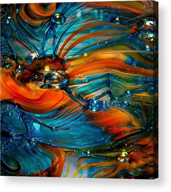 Glass Macro Abstract Rto Acrylic Print By David Patterson Abstract Art Fractal Art