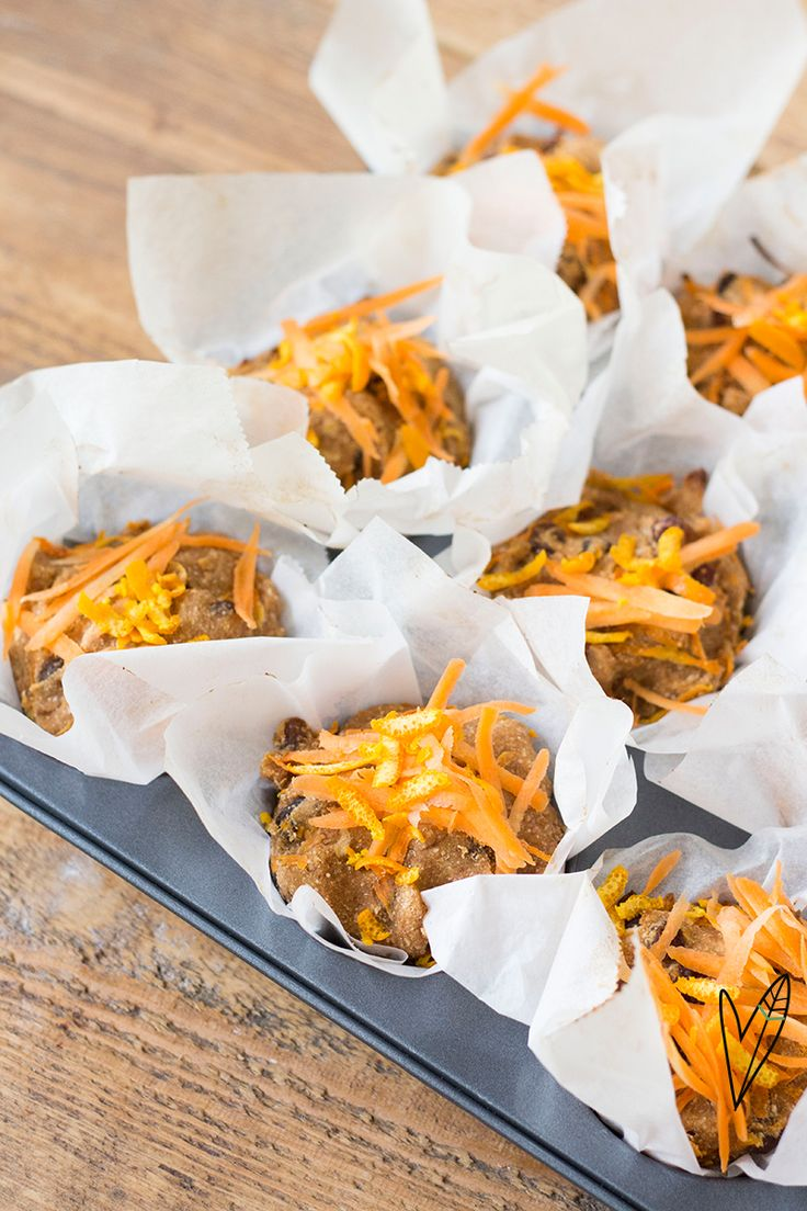Recept: Carrot cake muffins | The Green Happiness