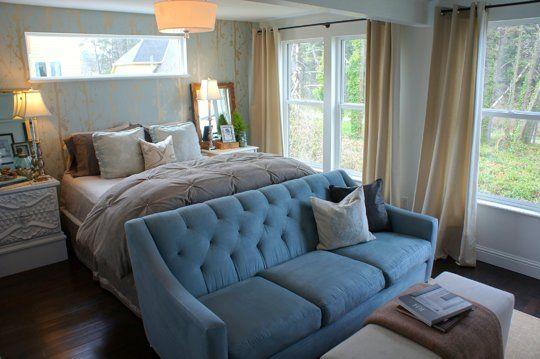 Chelseas Cozy Retreat Bedroom  My Bedroom Retreat Contest  I love this couch!