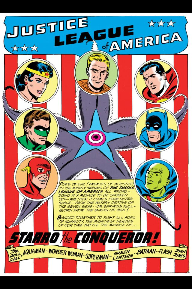 Original Justice League Roll Call from Brave and the Bold #28