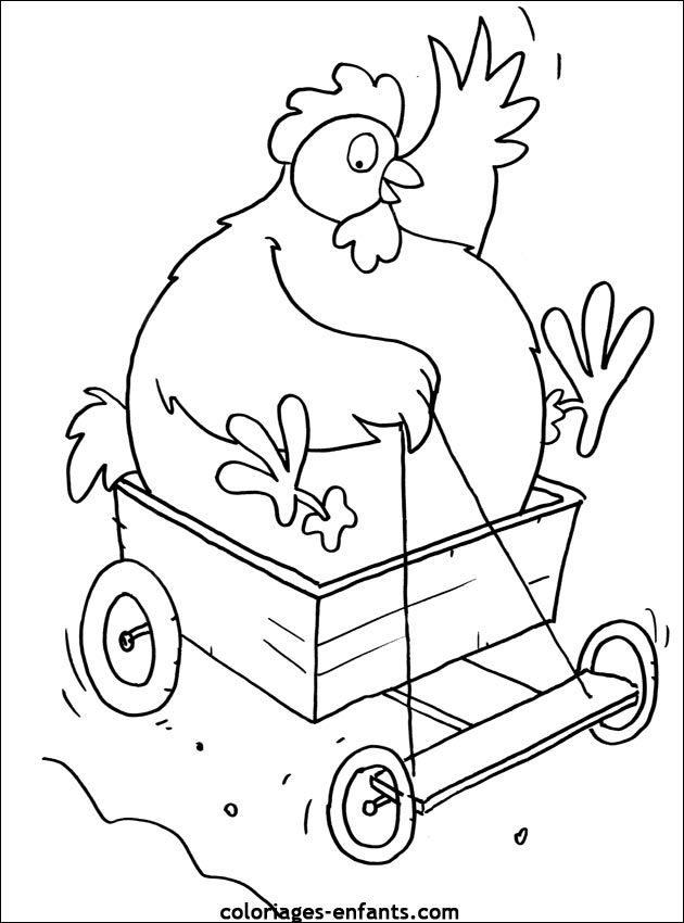 665 best roosters chickens images on pinterest - Poulet dessin ...