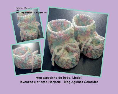 Agulhas Coloridas Croche e Trico: Bebe
