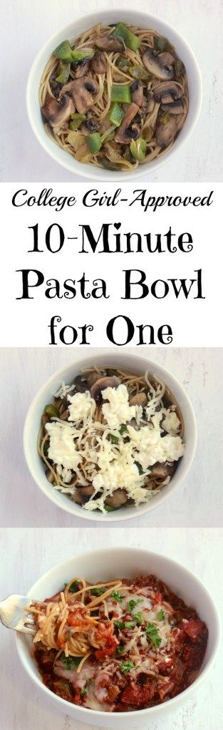 Super cheesy single-serving pasta bowl that you can whip up in 10 minutes or less! Plus an easy trick for wilting spinach.