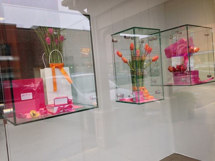 Spring Jewellery Window Display for Nortons Jewellers by Moving Designz
