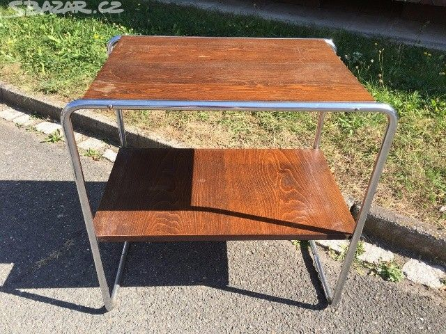 Chromový stůl stolek pult Art deco - obrázek číslo 1
