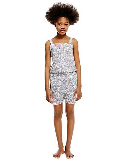 Floral Playsuit with Modal (6-16 Years) | M&S