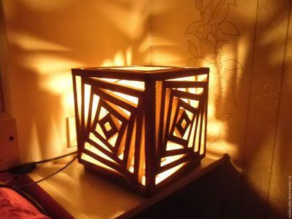 Освещение ручной работы. Ярмарка Мастеров - ручная работа. Купить Ночник из дерева. Handmade. Светильник, прикроватная лампа, светильники для ресторана
