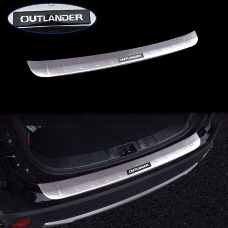 51.59$  Know more - http://aigfx.worlditems.win/all/product.php?id=32795731538 - For Mitsubishi Outlander 2013 2014 2015 2016 2017 Stainless Steel Exterior Internal Rear Bumper Protector Cover Sills Mouldings