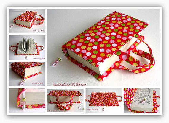 Cloth Book Covers With Handles : Best ideas about fabric book covers on pinterest