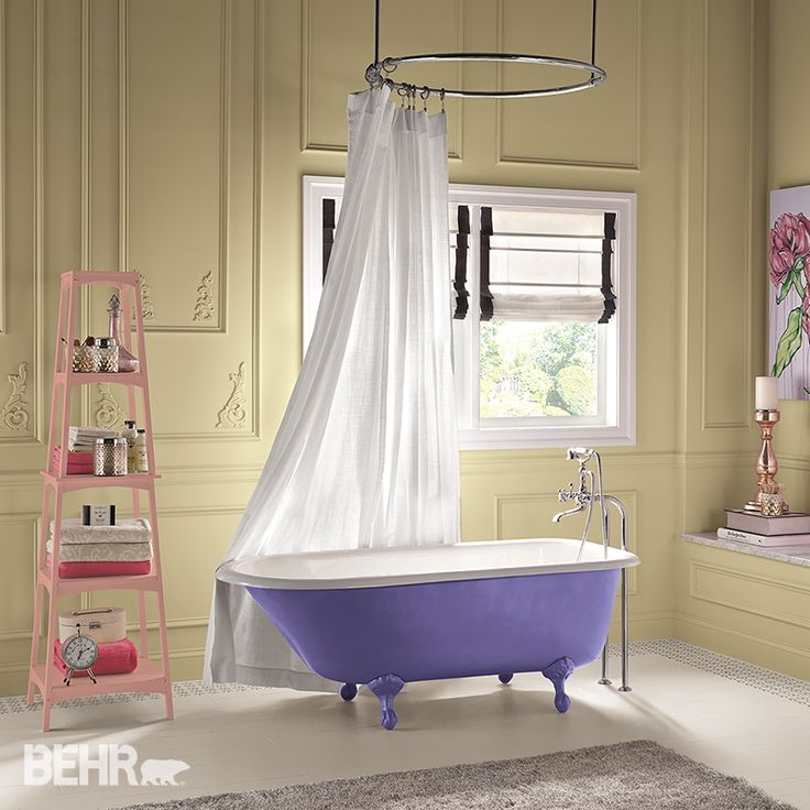 Frosted Pastels: #Pastels aren't just for nurseries anymore - especially when you combine them with zesty modern accents. #2015ColorTrends #BehrPaint Featured Color: Dandelion Tea T15-9