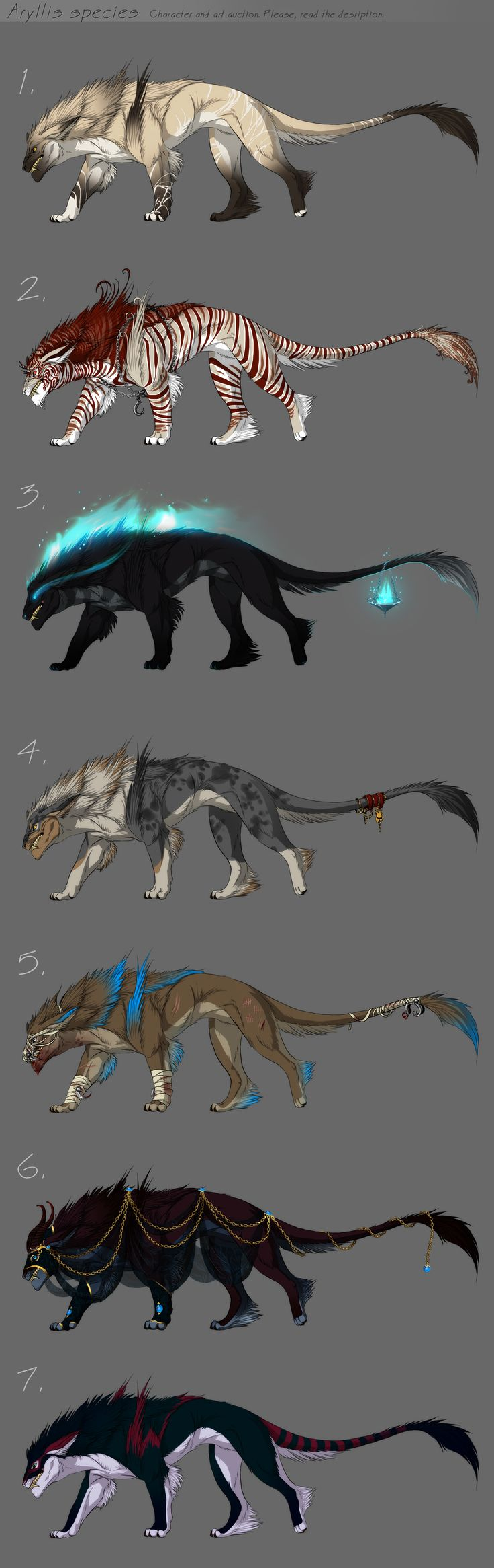 Adoptables - character auction by *akreon on deviantART