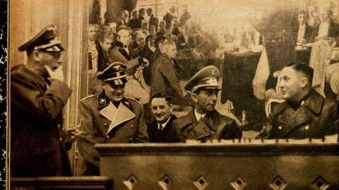 Josef Goebbel in the Norwegian parliament after the German invasion