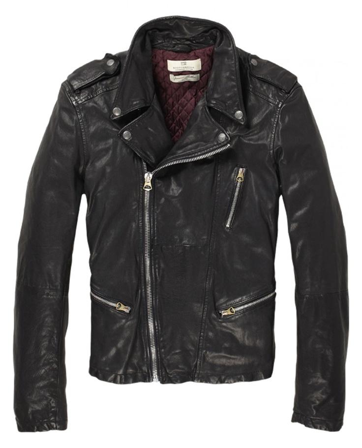 An eternal classic - Goat leather rocker jacket - Scotch & Soda 2012 AW