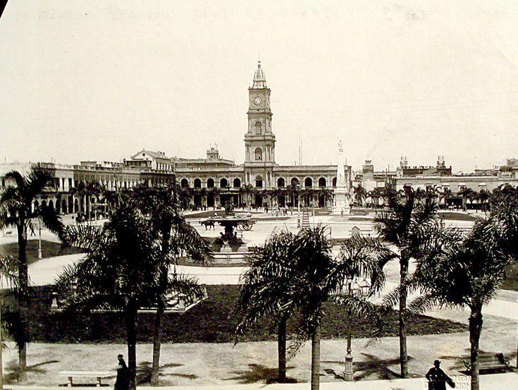 Plaza de Mayo y Cabildo, 1876