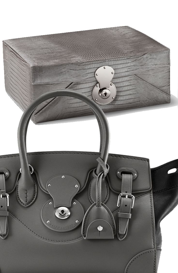b19a5fb53baf Hardware on Ralph Lauren Home s Delphine jewelry box borrowed from the  iconic Ralph Lauren Ricky Bag