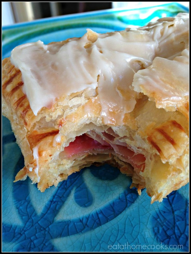 Homemade Toaster Strudels EASY TO MAKE AND DELICIOUS AS WELL. HAVE YOUR CHILDREN HELP YOU WITH THIS. YOUR FAMILY AND FRIENDS WILL THINK THAT YOU SPENT ALL DAY MAKING THESE. SHHHHH, DON'T TELL THEM JUST SAY I SURE DID..AND THEN LAUGH AND SHARE THE RECIPE WITH THEM.THE NICE THING ABOUT THESE IS THAT YOU CAN CHANGE TH PIE FILLING TO MAKE A VARIETY OF KINDS, ALSO A CREAM CHEESE FILLING 2- 8 oz. pkgs.cream cheese, 1/2 cup sugar, 2 tsp. vanilla extract, 2 tsp. vanilla extract,1 egg MIX...ENJOY